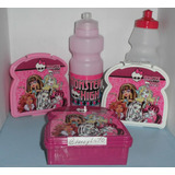 Monster High, Minnie, Sandw. + Cooler Combo Cotillón.