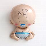 Balão Metalizado Em Formato De Bebe P/chá De Berço Menino