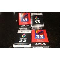 Cartucho Tinta Color Lexmark 33
