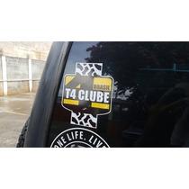 Adesivo T4 Clube Brasil 140 X 160 Mm