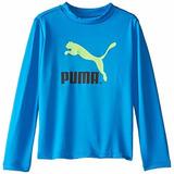 Playera Sport Para Bebe Marca Puma- Azul Talla 12 Meses