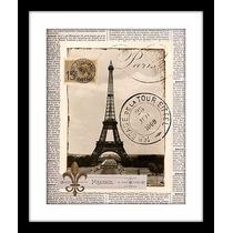 Cuadro Londres O París Estilo Vintage