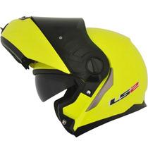 Capacete Ls2 Ff386 Articulado (robocop) Amarelo Fluor - 60/l