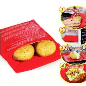 Kit 2 Sacos Para Assar Batatas No Microondas Potato Express