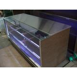 Mostrador Exhibidor Con Vidrio Y Luces Led Nuevo Fabrica
