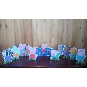 Kit 10 Peppa Pig De Mesa,display,festa Infantil,mdf