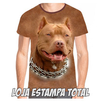 Camiseta Pitbull 2 - Pit Bull - Camisa - 100% - Cachorro 3d