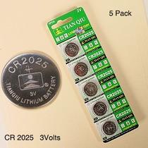 5 Baterias Cr2025 Litio 3 Voltios Control Alarma Auto Litio