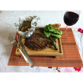 Tabla Plato Para Picar Madera Pino Carnes Sushi 20 X 25