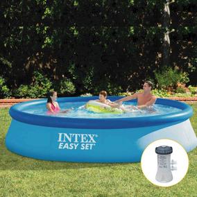 Piscina Inflável Easy Intex 7.290 Litros Com Bomba Filtrante
