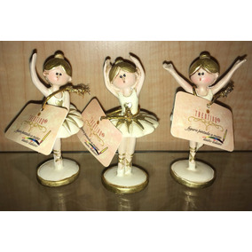 Set 3 Bailarinas Ballet De Poliresina 7.5 Cm