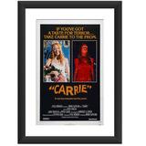 Quadro Carrie A Estranha Filme Retro Cartaz Terror Trash Pub