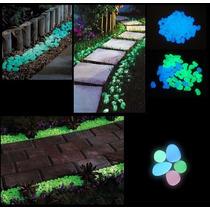 Piedras Luminosas Fluorescentes Decoración De Jardín 100pzs