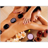 Poster Massagem Pedras Quentes 60x80cm Clínica