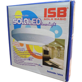 Lampara Led Sola Basic Solaled Downlight 9w Blanca Ultra Led