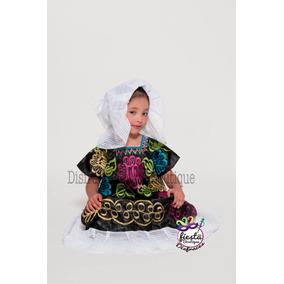 Vestido Tehuana Puebla Regional Mexicana Traje Disfraz