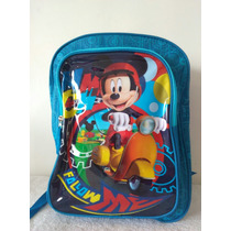 Bolso Escolar Para Niños De Mickey Mouse C/envió Gratuito