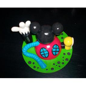 La Casa De Mickey Mouse Adorno De Torta Porcelana Fria