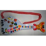 Guitarra Musical Infantil Girafa 26 Teclas Som Música!linda