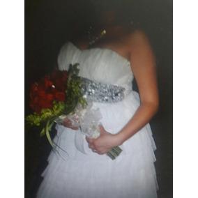 Vestido De Novia Blanco Sencillo Talla G /vestido Graduación