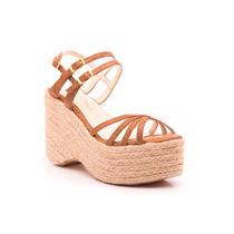 Natacha Zapato Mujer Sandalia Plataforma Reptil Bronce #992