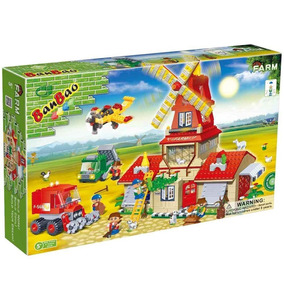 Brinquedo Blocos De Montar Banbao Fazenda Sede Moinho 8568