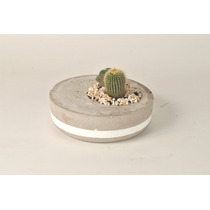 Vaso De Cimento / Concreto - Suculentas/plantas - 17,5x5cm