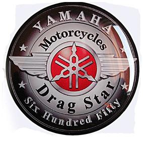 Logo Yamaha Drag Star Na Medida Do Filtro De Ar - Resinado