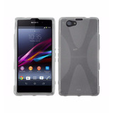 Forro Funda Gel Tpu Sony Xperia Z1 Compact X Line Clear Gel