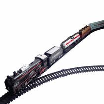 Trenzinho Elétrico 29 Pcs Ferrorama Rail King Trem Com Farol