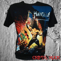 Camiseta De Séries Cinama E Banda Rock Heavy Metal Manowar