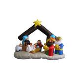 6 Pies Navidad Inflable Pesebre Con Tres Reyes Decoración