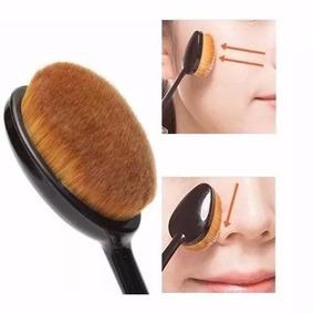 Pincel Escova Oval P/ Pó- Blush- Base Corretivo Maquiagem P