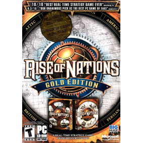 Rise Of Nations & Thrones Patriots/ Gold Edition 2cd Rom Pc