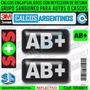 Grupo Sanguineo Ab+(pos.) Reflectivo Para Autos Y Cascos 3d
