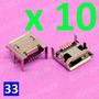 Jack Microusb X 10 Unidades - Modelo 33 - Lenovo Thinkpad