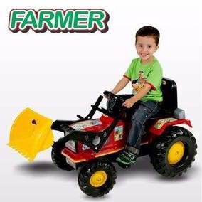 Mini Trator Infantil A Pedal Farmer + Pá Escavadeira Biemme