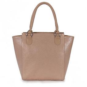 Bolsa Shopping Bag Em Couro Lara - Bege