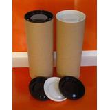 Tubo Cartón Con Tapas Envase / Packaging / Estuche Ø 8,5 Cm