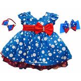 Vestido Galinha Pintadinha 1 A 4 Anos 2 Tiaras Frete Gratis