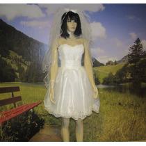 Vestido De Noiva Curto Casamento Cívil Ou Debutante