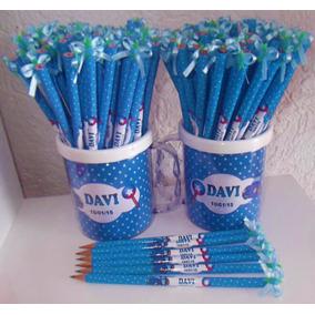 50 Lápis Personalizado - Para Lembrancinha Maternidade