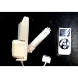 Transmisor Fm Auto + Cargador Iphone Ipod 3 4 Holder 3 En 1