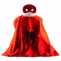 Fantasia Infantil Homem Aranha Capa E Mascara! Frete Gratis