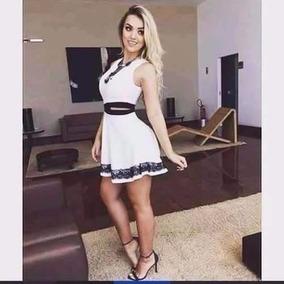 Vestido Panicat Rodado Tule Gripir Rendado Sexy