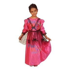 Disfraz Dama Antigua Fiestas Patrias Super Económico M 3-4