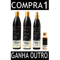 Kit Restauração Capilar Oleo De Argan + Silicone-ponta Dupla