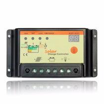 10 Controladores De Carga 10a Con Temporizador, Panel Solar.
