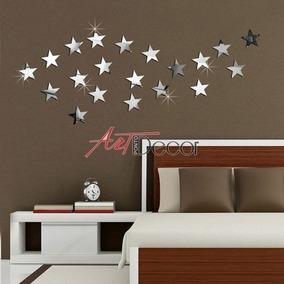 20 Estrelas Em Espelho Acrílico Decorativo Quarto Bebê Sala