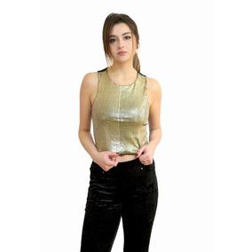 Top, Musculosa De Lentejuelas, Mujer, Brishka S-0016
